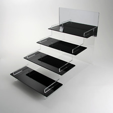 Watch Tiered Display Stand - Collection - Retail - Black Shelves - Acrylic