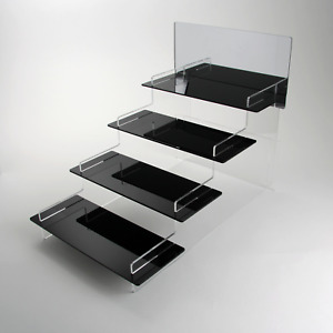 Watch Tiered Display Stand - Collection - Retail - Acrylic - 3 Shelf Colours