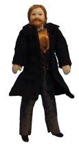 "1/12TH Muñeca de casa de muñecas ""Victoriano"" Hombre de Negro Frock Abrigo."