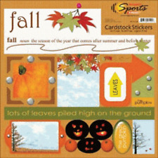 "SCRAPPIN' SPORTS & MORE SEASONS FALL 12"" x 12"" CARDSTOCK SCRAPBOOK STICKERS"