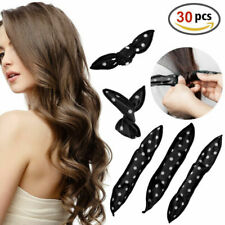 30pcs Magic Soft Foam Sponge Curls  Sleep Hair Curlers Roller Girls Women Black