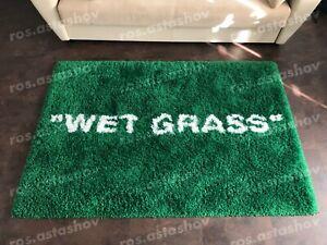 "IKEA X Virgil Off White Markerad ""Wet Grass"" Rug  Designed By Virgil Abloh"