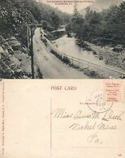 BLOSSBURG PA NEW STATE ROAD 1910 ANTIQUE POSTCARD