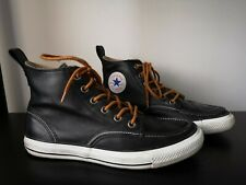 Converse Chuck Taylor All Star Black Leather Trainers VGC - UK 8