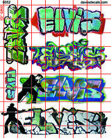 6052 DAVE'S DECALS ELVIS BOXCAR URBAN WALL GRAFFITI STREET SRT HO SCALE 1:87