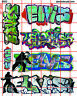 6052 DAVE'S DECALS ELVIS BOXCAR URBAN WALL GRAFFITI STREET SRT HO SCALE 1:87