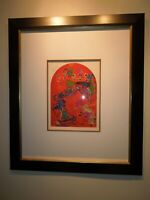 """Marc Chagall """"TRIBE of ZEBULUM"""" 1970's Lithograph, Pencil Hand Signed by Chagall"""