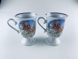 Gilitzer Porzellan Manufaktur Weihnachtstassen Mug Henkeltasse Goldrand Becher