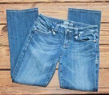 Miss Me Size 28 Modelo Boot Cut Jeans Crosses Stretch Women's Zipper Fly (BS)