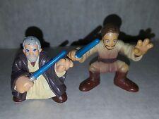 Star Wars Galactic Heroes Old & Young Obi Wan Action Figures Hasbro Loose