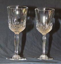 Crystal Stemware Glasses Set Lot Coupe Lead Red Wine Goblets Alsace Hock Chalise