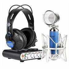 Home Recording Pro Tools Bundle Studio Package Nw2S Sound Card Mic Headphone