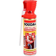 3x Soudal Genius Gun Gap Crack Filler 500ml Expanding Foam B3 PU Polyurethane