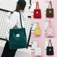 Casual Women's Canvas Corduroy Tote Bags Handbag Ladies 1 Bag x Shoulder D6B0