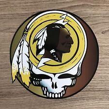 "Washington Redskins Grateful Dead 4"" Wide Vinyl Sticker - BOGO"