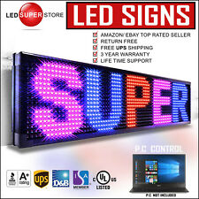 """LED SUPER STORE: 3COL/RBP/PC 22""""x79"""" Programmable Scrolling EMC Display MSG Sign"""