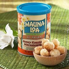 HONEY ROASTED * MAUNA LOA MACADAMIA NUTS * 4.5 CAN