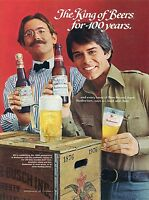 1976 Print Ad of Budweiser Bud Beer King of Beers for 100 Years Anheuser-Busch