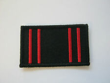 ARMY PHYSICAL TRAINING CORP TRF (APTC) - BLACK & RED CLOTH PATCH