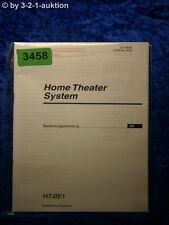 Sony Bedienungsanleitung HT BE1 Home Theater System (#3458)
