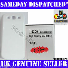 EXTENDED 5000mAh GOLD BATTERY FOR SAMSUNG GALAXY S 3 S3 i9300 WITH BACK COVER