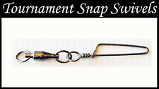 Snap Swivels. 24-37kg. #8 Tournament Snap Swivels. 10 Pack. 420lb. Twin ring