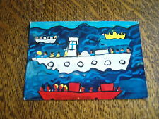 carte postale village d'enfants pestalozzi eine (finnland) voyage en mer