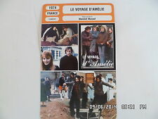 CARTE FICHE CINEMA 1974 LE VOYAGE D'AMELIE Louise Chevalier Daniel Duval