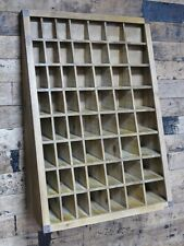 Industrial Wooden Furniture 57 Pigeon Holes Storage Cabinet Shelving Wall Unit