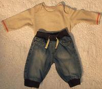 Baby Boys Cotton Top & Jeans Set Size 3-6 Months