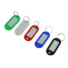 50 in 1 Assorted Color Plastic Key ID Label Name Card Tags Keychains Keyrings HY