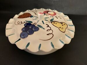 Vintage Purinton Slip Ware Beautiful Covered Bowl From Lazy Susan