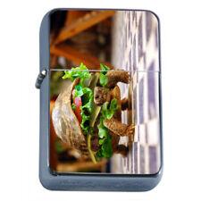 Turtle Burger Em1 Flip Top Oil Lighter Wind Resistant With Case