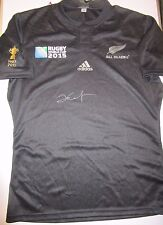 Dan Carter (NZ All Blacks) signed 2015 Rugby World Cup All Blacks Jersey !
