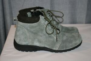 Propet Delaney WFV002S Suede Ankle Booties, Women's Size 9M Green