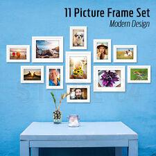 11 PCS Modern Design Photo Frame Set WHITE Picture Frames Multi Bulk Wall Decor