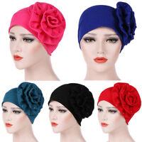 Women's Hat Muslim Ruffle Cancer Chemo Hat Beanie Scarf Turban Head Wrap Cap New