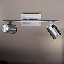 WOFI Plafonnier LED Noa à 2 LAMPES NICKEL Spot Réglable 8 WATT 400 Lumen lampe