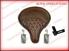 Royal Enfield 350cc & 500cc Classic Leather Brown Color Seat With Spring