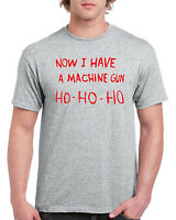 NOW I HAVE A MACHINE GUN HO HO HO T-SHIRT - DIE HARD CHRISTMAS SECRET SANTA GIFT