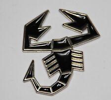 Classic Vintage Abarth Logo Emblem lackiert Metall Skorpion Emblem schwarz NEU