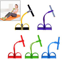 Foot Pedal Pull Rope Resistance Exercise 4-Tube Yoga Equipment Sit-Up Fitness FE