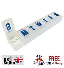 EXTRA LARGE 7 DAY PILL BOX HOLDER TABLET MEDICINE Organiser Storage Dispenser