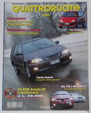 QUATTRORUOTE 2/1998 ALFA ROMEO 156 2.4 JTD – MERCEDES C220 CDI – FORD MONDEO SW