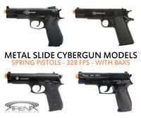 Best All Metal Slide Spring Airsoft Pistol Gun 328 FPS Cybergun 45 PT92 M 1911