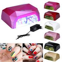 LED CCFL Nail Dryer Diamond Shape Curing Machine For UV Gel Lamp Nail Polish 36W
