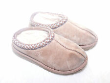 UGG S/N 5252 Genuine Leather Sheepskin Slippers Chestnut Sz 13 Kids Girls EUC