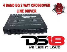 Ds18 Keq4Ld 4 Band Car Stereo Equalizer 2-Way Crossover Line Driver Epicenter Eq