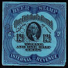 US REA75d 12 1/2c Beer Revenue Stamp Used VF SCV $50