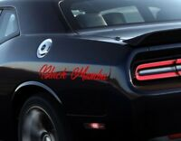 2 Black Mamba Funny Decals Car Vinyl Stickers Side Graphics for truck custom art
